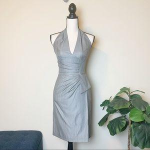 Black Halo gray halter dress